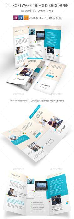 Business Bi Fold Brochure V1 Brochure Template Brochures And Template