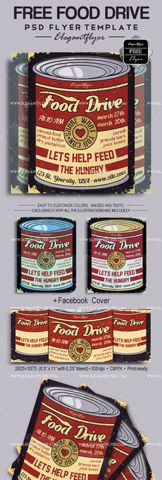 Food Harvest Drive Flyer Food Drive Food And Template