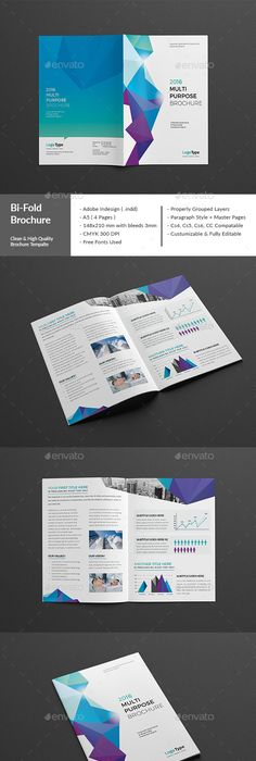 Bi Fold Brochure Indesign Template Indesign Templates Brochures