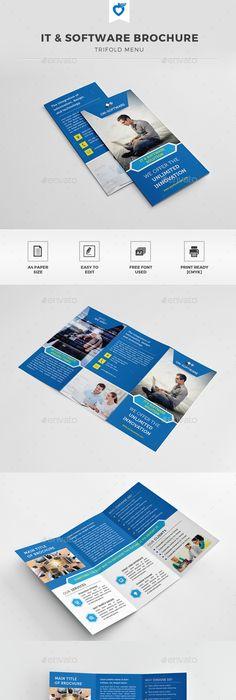 Corporate Bi-Fold Brochure Brochures, Brochure template and