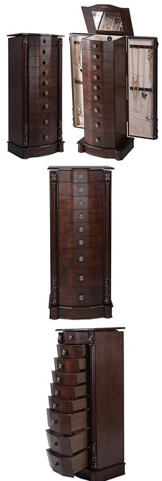 Jewelry Boxes 3820 Jewelry Cabinet Armoire Storage Chest Box Stand