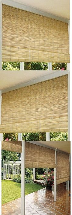 Blinds And Shades 20585: Bamboo Patio Blinds Outdoor Balcony Deck 72  Roll Up Wood
