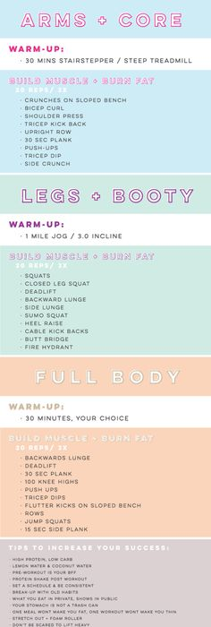 FourDay Workout Routine  Heath  Fitness    Routine