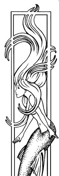 Mermaid Siren Fantasy Myth Mythical Mystical Legend Coloring Pages Colouring Adult Selina Fenech