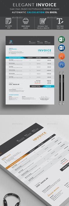 Invoice Design   Pinteres