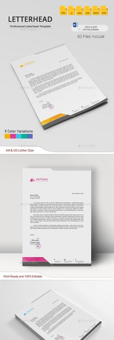 Letterhead  Minimal Purpose And Stationery Printing