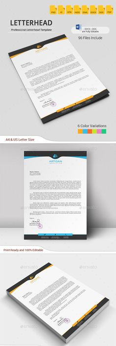 Corporate Business Letterhead Design Stationery  Letterhead
