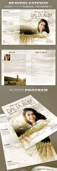 In Loving Memory Funeral Program Template   Program Template