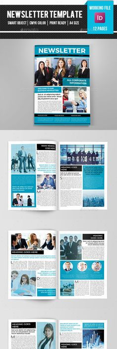 Corporate NewsletterV  Print Templates Template And Newsletter