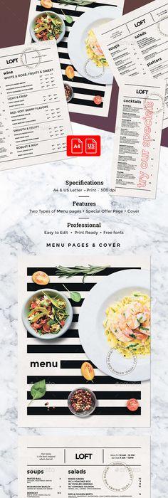 Restaurant Menu Template For Choice Of Rewards  Cafe
