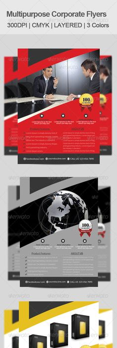A Professional And Free Flat Design Corporate Flyer Psd Template