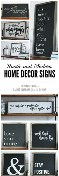 Rustic And Modern Home Decor Signs Giveaway