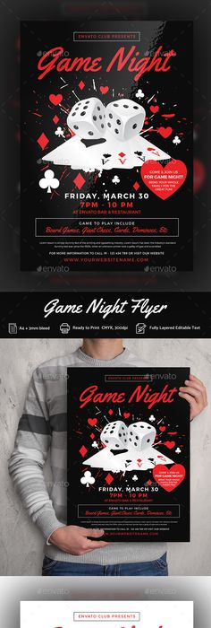 Football Game Night Flyer Template Game Night Flyer Template And