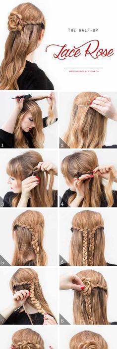 Lange haare hochbinden