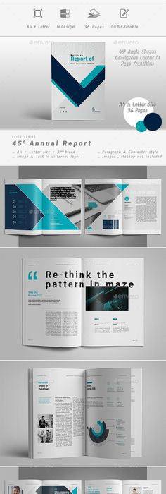 Annual Report  Indesign Template  Annual Reports Letter Size