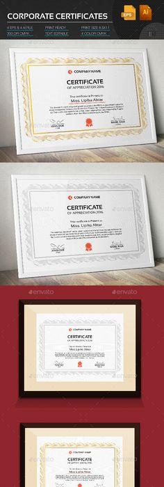 Certificate Certificate, Certificate design and Template