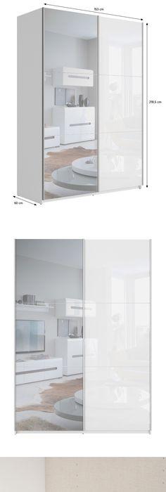 PAX Wardrobe, white, Auli mirror glass Pax wardrobe, Ikea pax and - armoire ikea porte coulissante