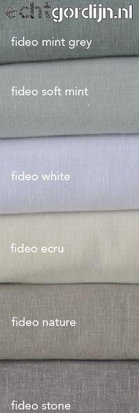 Palau is een soepele gordijnstof. Te koop in 5 mooie softe kleuren ...