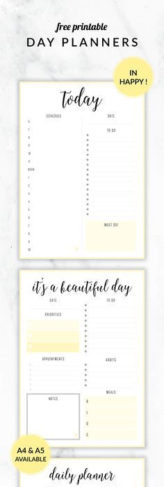 Daily Planner A Planner Printable Organizer By Borbolloplanners