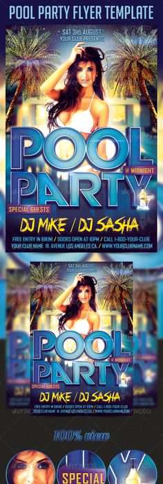 Midnight Pool Party Flyer Template Psd  Flyer Inspiration