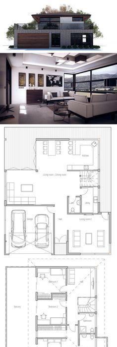 Garage in musikzimmer und büro teilen ok Pinterest Modern - Plan De Maison Originale