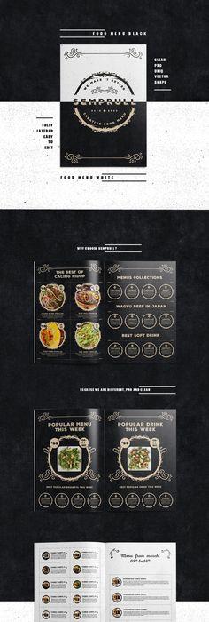 Food Menu Template-V04 Food menu template, Food menu and Menu - bar menu template
