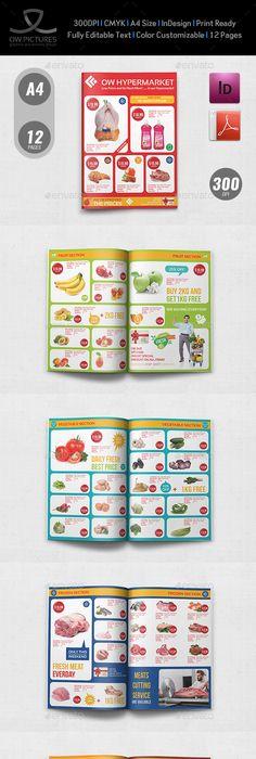 Super Market Products Flyers Bundle  Marketing Products Flyer