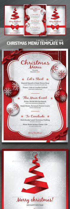 Christmas Menu Template V3 Menu templates, Menu and Flyer template - christmas luncheon flyer