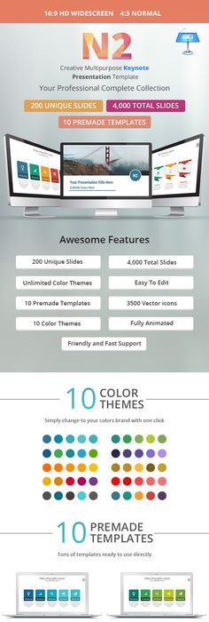 ColorX Keynote Template  Keynote Template And Mockup