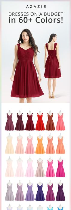 New Azazie Size Chart Bridesmaid Bridesmaids My Dresses In