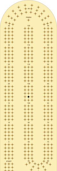 DIY Cribbage board template. Downloadable Cribbage Board Template Free from ...