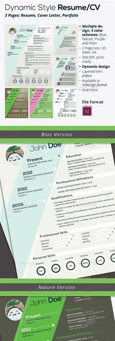 Professional Elegant Template Cv template, Resume cv and Template