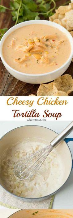Creamy chicken tortilla soup recipe creamy chicken tortilla soup cheesy chicken tortilla soup recipe by forumfinder Images