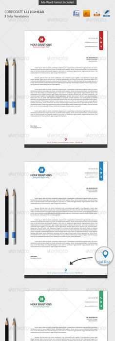 Corporate Letterhead With Word Docs  Stationery Printing Print