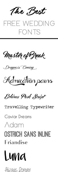 My Top 7 Fonts for Weddings Fonts, Wedding and Weddings - best of wedding invitation design software free download