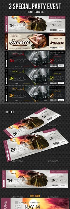 Event Ticket Template PSD Ticket Templates Pinterest Ticket - party tickets templates