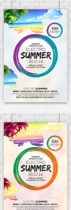 Topical Summer Party Flyer Party flyer, Summer parties and Flyer - fresh blueprint party band
