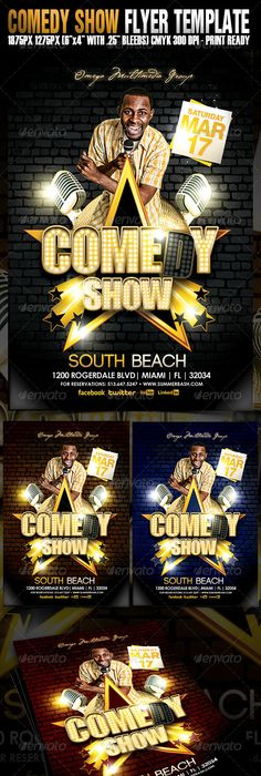 Stand Up Comedy Night Show Flyer Comedy nights, Flyer template and - comedy show flyer template