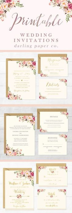 Free wedding invitation templates Customize and download these