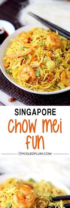 Singapore noodles singapore mei fun recipe noodle singapore singapore chow mei fun asian recipesfun recipesasian foodsnoodle forumfinder Images