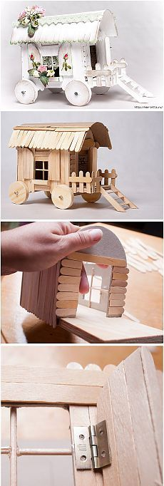 Diy popsicle stick house house diy craft crafts easy crafts diy easy diy kids craft ideas popsicle sticks see more solutioingenieria Images