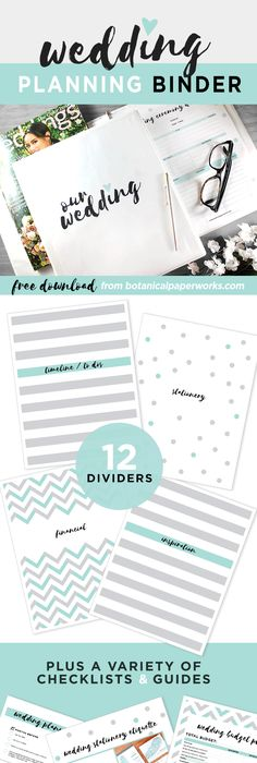 This is so helpful vistaprints wedding planning checklist this freeprintable wedding planning binder comes in 3 color options and is filled with planning junglespirit Choice Image