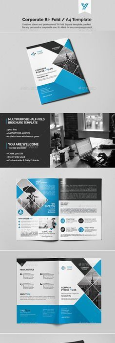 Corporate Bi Fold Brochure Template Psd Download Here Http