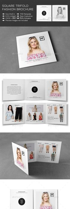 Square Tri Fold Fashion Brochure Tri Fold Brochures And Brochure
