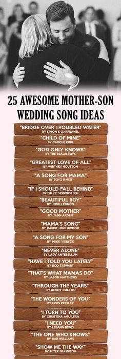 20 Awesome Mother / Son Wedding Dance Songs   Wedding dance songs ...