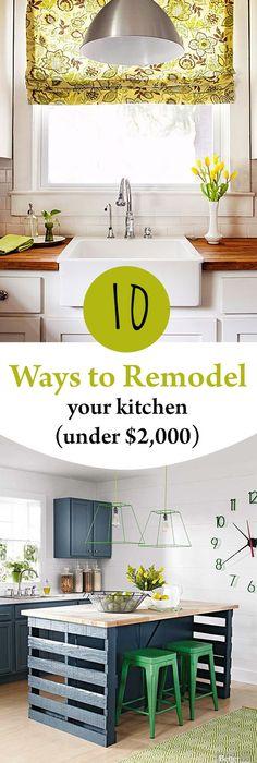 10 Ways To Remodel Your Kitchen (Under $2,000)