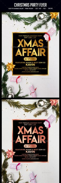 Christmas Special Party Flyer Party flyer, Christmas flyer and - best of invitation template psd file