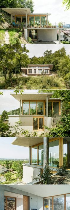 Gian Salis Builds A House On A Slope In Southern Germany   Created Via Http: