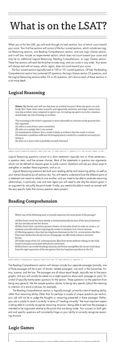Lsat clarity the first complete lsat self study guide master the an infographic about what is on the lsat logical reasoning logic games and malvernweather Images