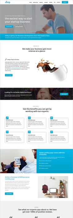 Promote your business online with landing page designs | Website ...